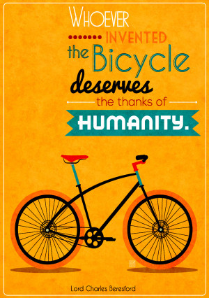Typography posters using famous quotes about bikes.