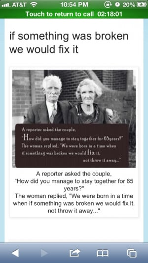 Secret to a long marriage