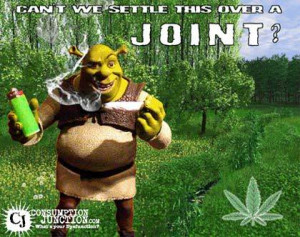 shrek smoking weed Image