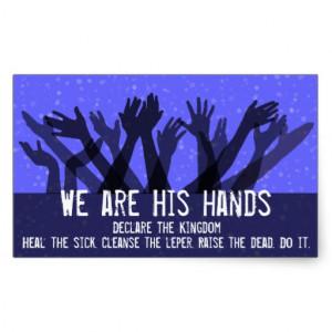 Faith.Healing.Heal the Sick.Spirit Filled.Anointed Rectangle Sticker