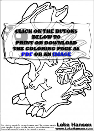 Dragonvale Dragons Coloring Pages This printable coloring sheet