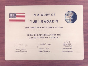 Memorial Plaque for Yuri Gagarin