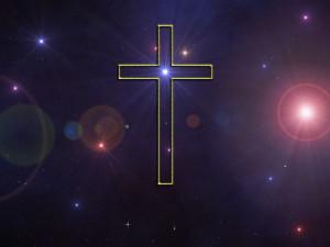 Shining Cross Papel de Parede Imagem