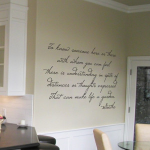 Goethe - Life is a Garden - Wall Quotes and Wall Decals - Your Choice ...