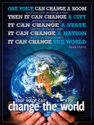 Change the world quote by Barack Obama