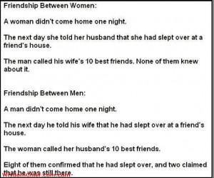 Women Friendships Vs Men Friendships