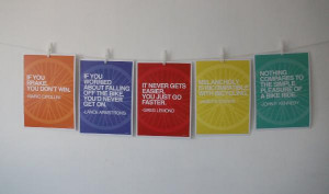 Cycling Quote Prints