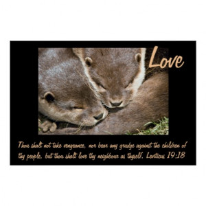 Love Quote Poster - Otters