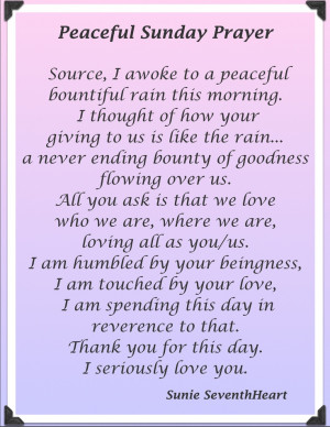 Peaceful Sunday Morning Prayer,