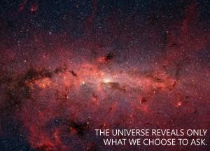 The universe reveals…