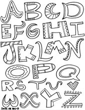 Letter Coloring pages - Doodle Art Alley