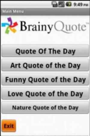 Brainy Quotes Screenshot 1
