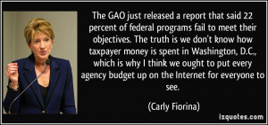 meet their objectives. The truth is we don't know how taxpayer money ...