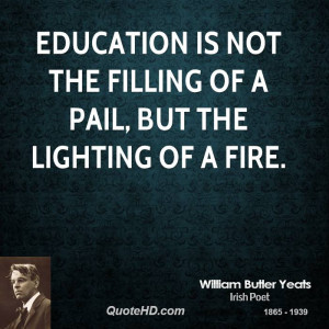 William Butler Yeats Education Quotes
