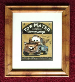 Disney Cars Tow Mater Radiator Springs Print 18 x 17 Framed with ...