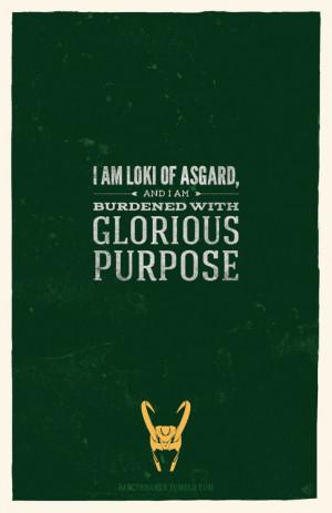 fancykraken:Marvel Quotes Poster Series↳ Loki