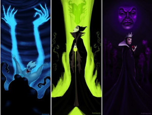 Ursula, Maleficent, the Evil Queen