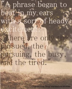 My favorite quote from my favorite novel: