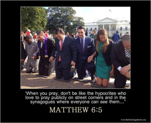 when you pray you are not to be like the hypocrites for they love to ...