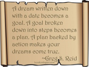 Greg S. Reid Quote on Making Your Dreams Come True
