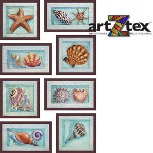 framed sea shells mini wall mural z 19061 eight shells