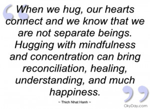 when we hug thich nhat hanh