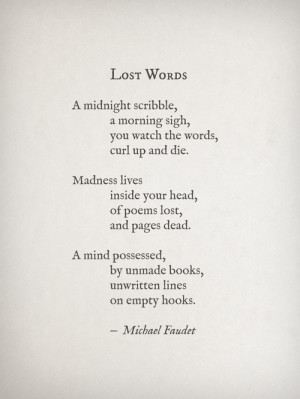Lost words}