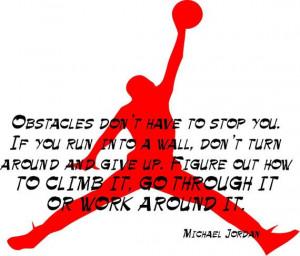 Michael Jordan, Inspirational Quote, Basketball - Decal, Sticker ...