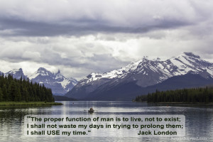 Maligne Lake - Jasper National Park - quote (click to enlarge)