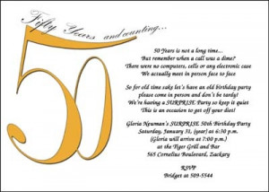 50th Birthday Surprise Party Invitations areBecoming Very Popular!