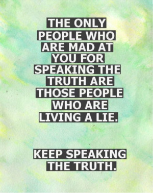 Keep speaking your mind