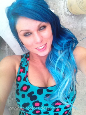 light blue ombre hair color source http quoteko com hair color for ...