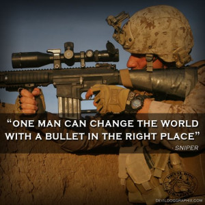 Another great quote from a sniper,