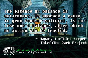 life lessons from video games thief balance video game quotes