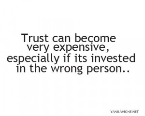 Trusting the wrong person