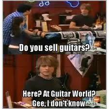drake and josh- Guitar World, Do you have guitars? More