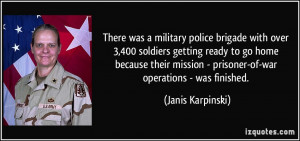 ... to go home because their mission - prisoner-of-war operations - was