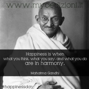 Gandhi quote on happiness