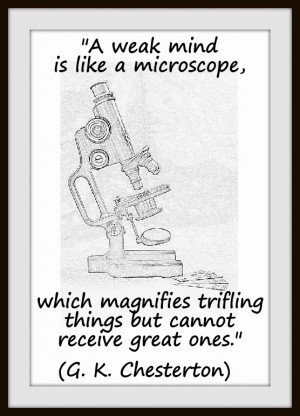 weak mind is like a microscope, which magnifies trifling things but ...
