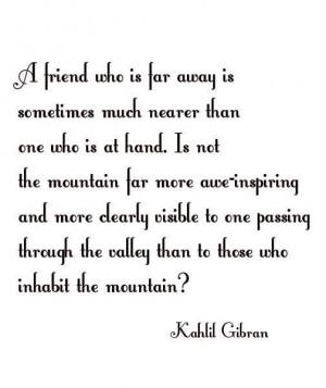 Kahlil gibran friends quote