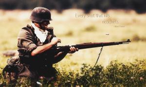 Rifles war soldier quotes men World II HD Wallpaper
