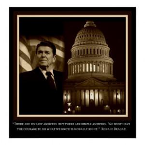 Ronald Reagan Inspirational Poster
