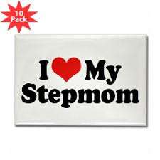 Love My Stepmom Rectangle Magnet (10 pack) for