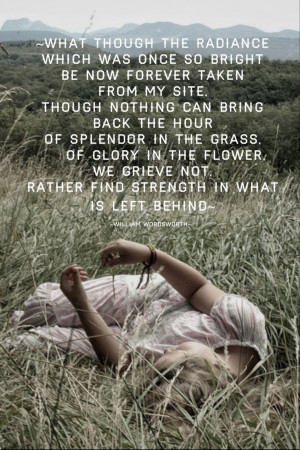 Splendor in the grass~⚘ Like the quote and the film.