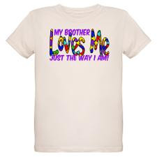 My Brother Loves Me Autism Aw Organic Kids T-Shirt for