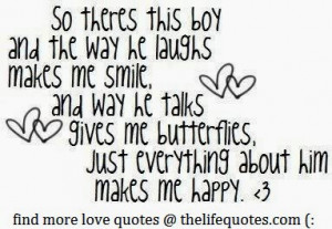 he makes me smile quotes so there this boy and the way he laughs makes ...