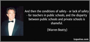of safety - or lack of safety - for teachers in public schools ...