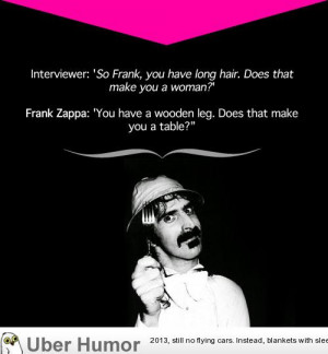 Frank Zappa gives a snappy answer to a stupid question