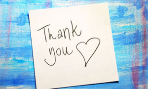 Giving Thanks, Receiving Thanks - Quotes From Our Patients
