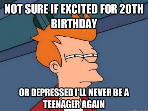 20th birthday joke